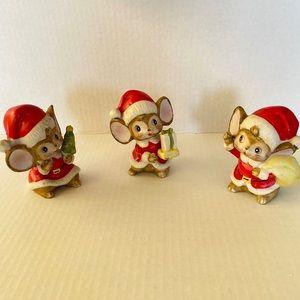 Homco Christmas Mice